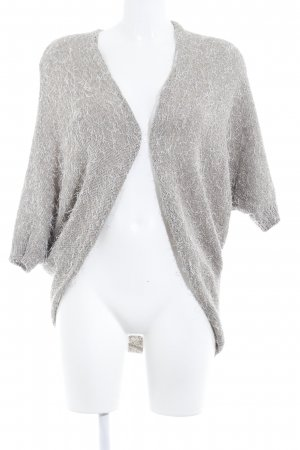 Comma Strick Cardigan grau-beige Casual-Look