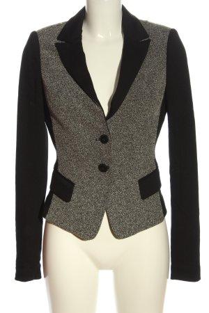 Comma Blazer in maglia bianco-nero puntinato stile casual
