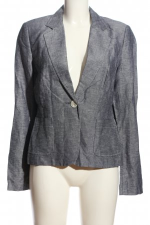 Comma Strickblazer hellgrau Casual-Look