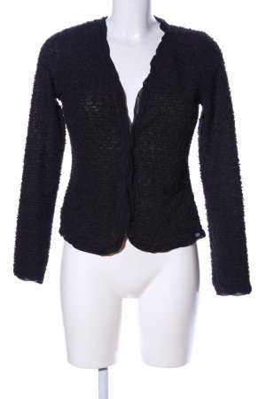 Comma Strickjacke schwarz Casual-Look