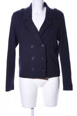 Comma Strickjacke blau Business-Look