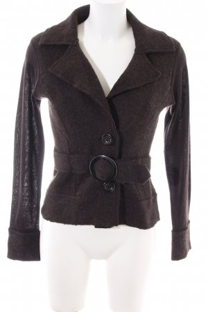 Comma Strickjacke braun Business-Look