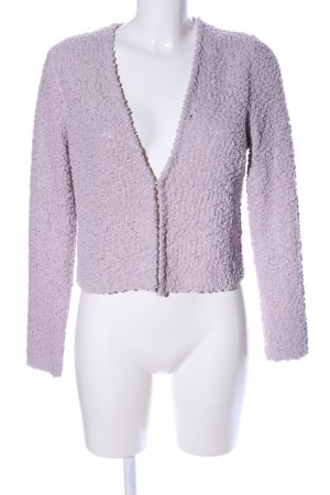 Comma Strickjacke lila Casual-Look