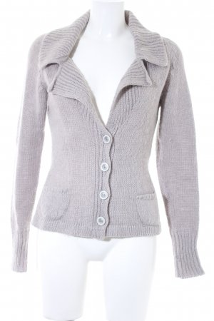 Comma Strickjacke hellgrau Casual-Look