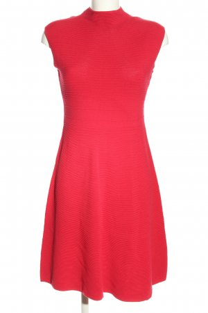 Comma Knitted Dress red striped pattern casual look