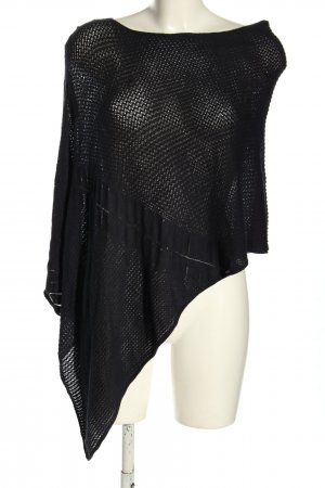 Comma Knitted Poncho black casual look