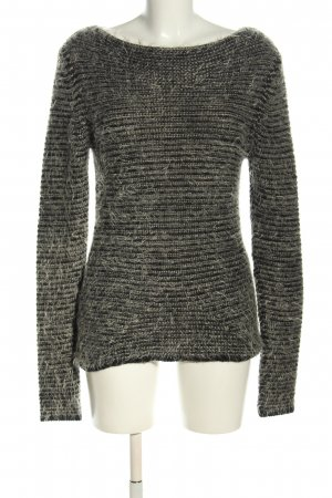 Comma Strickpullover hellgrau meliert Casual-Look
