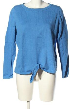 Comma Strickpullover blau Casual-Look