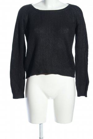 Comma Strickpullover schwarz Casual-Look