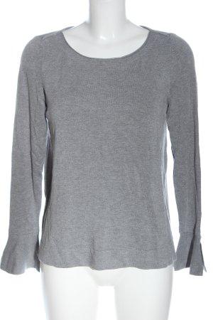 Comma Jersey de punto gris claro moteado look casual