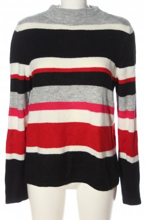Comma Strickpullover Streifenmuster Casual-Look