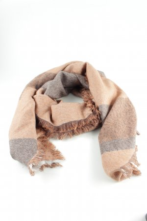 Comma Knitted Scarf nude-light grey check pattern casual look
