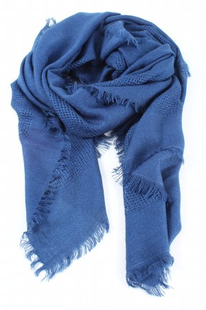 Comma Strickschal blau Casual-Look