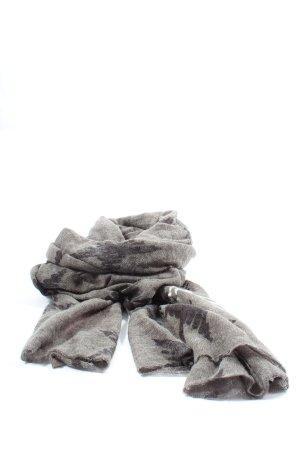 Comma Bufanda de punto gris claro-blanco look casual
