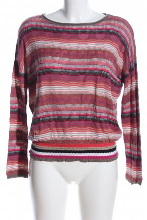 Comma Knitted Jumper striped pattern casual look