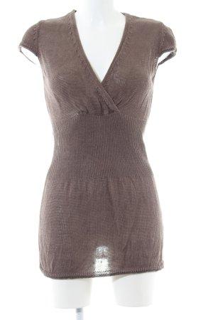 Comma Camicia maglia marrone stile casual