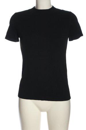 Comma Strickshirt schwarz Casual-Look