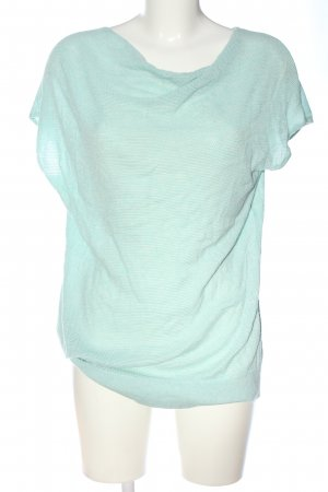 Comma T-shirts en mailles tricotées turquoise style décontracté