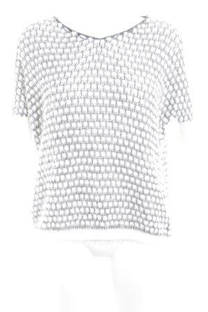 Comma Strickshirt wollweiß-grau Kuschel-Optik