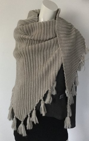 Comma Écharpe en tricot beige clair