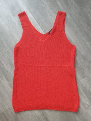 Comma Gebreide top donker oranje-rood