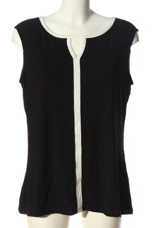 Comma Haut tricotés noir-blanc style d'affaires