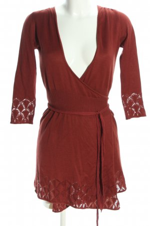 Comma Knitted Wrap Cardigan red casual look