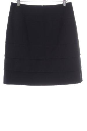 Comma Gelaagde rok zwart casual uitstraling