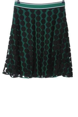 Comma Warstwowa spódnica zielony-czarny Na całej powierzchni W stylu casual