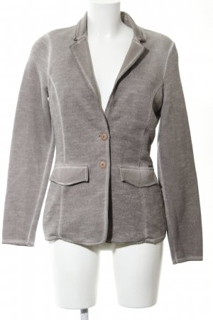 Comma Sweatblazer hellgrau meliert Casual-Look