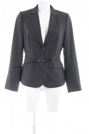 Comma Sweatblazer dunkelgrau-hellgrau Punktemuster Business-Look