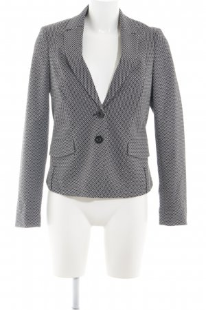 Comma Sweatblazer schwarz-weiß abstraktes Muster Business-Look