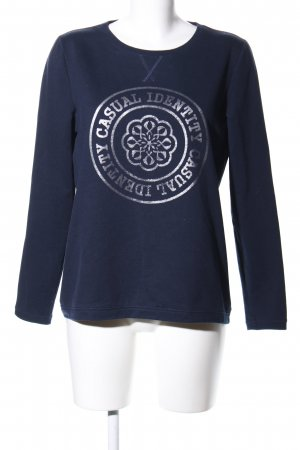 Comma Sweat Shirt blue themed print casual look