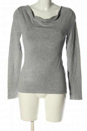 Comma Sweatshirt hellgrau meliert Casual-Look