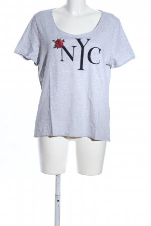 Comma T-Shirt hellgrau meliert Casual-Look