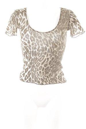 Comma T-Shirt Animalmuster extravaganter Stil