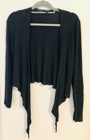 Comma T-Shirt Langarm/Cardigan zum Binden Gr. 38 dunkelblau
