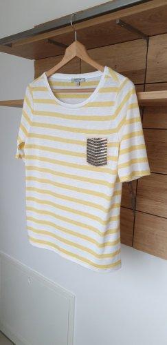Comma T-shirt crema-bianco Viscosa