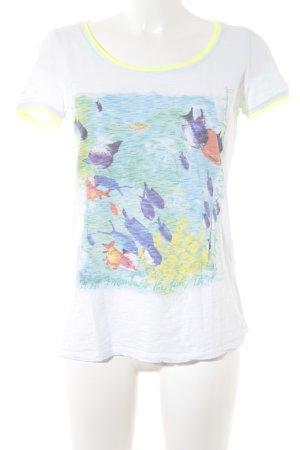 Comma T-Shirt Motivdruck Casual-Look