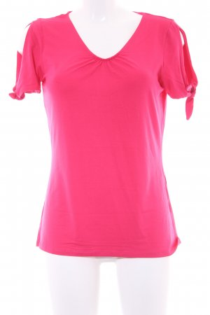 Comma T-Shirt neonrot Casual-Look