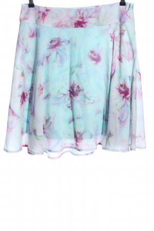 Comma Circle Skirt turquoise-pink flower pattern casual look