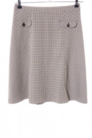 Comma Circle Skirt blue-natural white check pattern business style