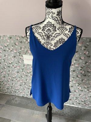 Comma Blusa sin espalda azul