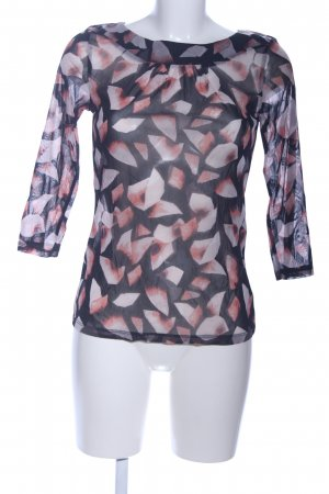 Comma Transparenz-Bluse abstraktes Muster Business-Look