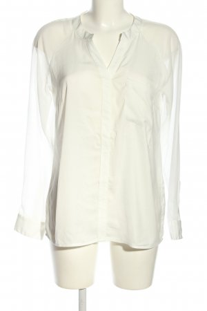 Comma Transparenz-Bluse weiß Casual-Look