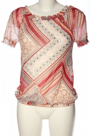 Comma Transparenz-Bluse abstraktes Muster Casual-Look
