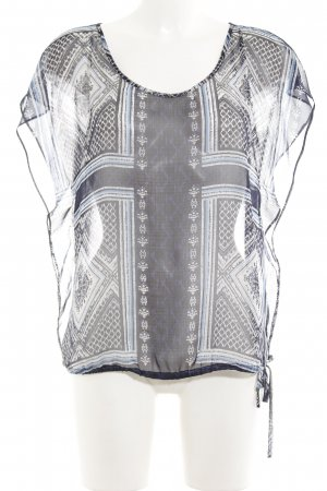 Comma Transparenz-Bluse abstraktes Muster Transparenz-Optik