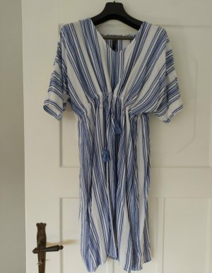 Comma Kaftan wit-korenblauw