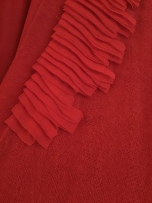 Comma Twin set in maglia rosso