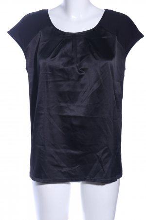Comma Boatneck Shirt black business style